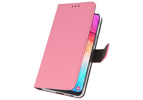 Wallet Cases Hoesje voor Samsung Galaxy A50 Roze