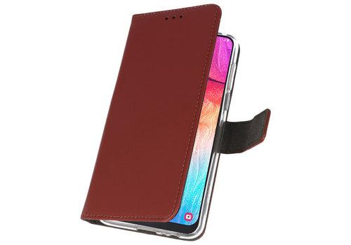 Wallet Cases Hoesje voor Samsung Galaxy A50 Bruin