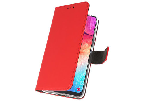 Wallet Cases Hoesje voor Samsung Galaxy A50 Rood