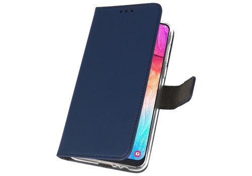 Wallet Cases Hoesje voor Samsung Galaxy A50 Navy