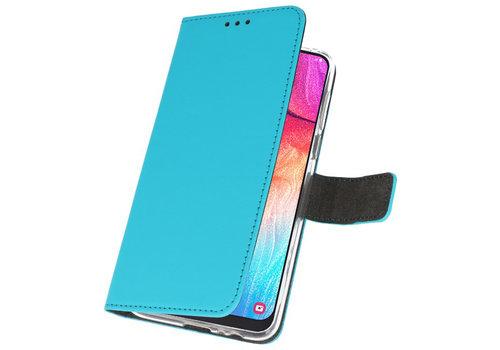 Wallet Cases Hoesje voor Samsung Galaxy A50 Blauw