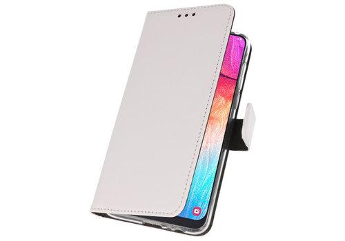 Wallet Cases Hoesje voor Samsung Galaxy A50 Wit