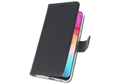Wallet Cases Hoesje voor Samsung Galaxy A50 Zwart