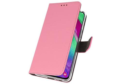 Wallet Cases Hoesje voor Samsung Galaxy A40 Roze
