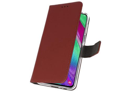 Wallet Cases Hoesje voor Samsung Galaxy A40 Bruin