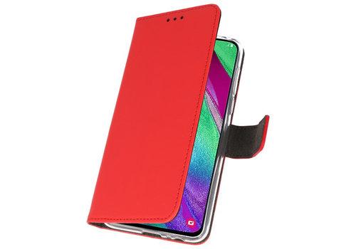 Wallet Cases Hoesje voor Samsung Galaxy A40 Rood