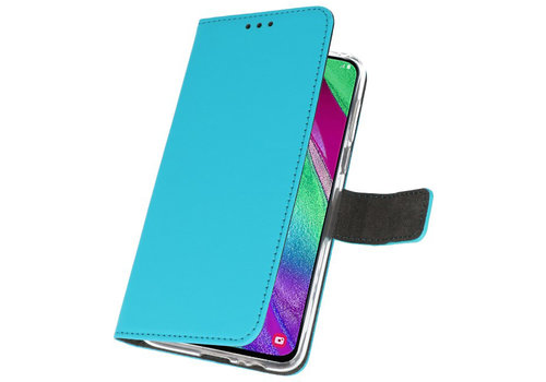 Wallet Cases Hoesje voor Samsung Galaxy A40 Blauw