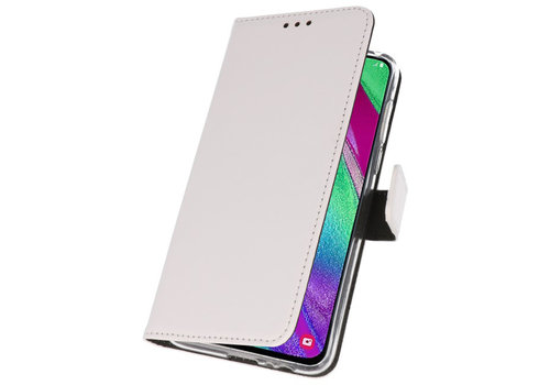 Wallet Cases Hoesje voor Samsung Galaxy A40 Wit