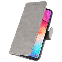 Bookstyle Wallet Cases Hoesje voor Galaxy A50 Grijs