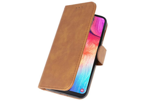 Bookstyle Wallet Cases Hoesje voor Galaxy A50 Bruin