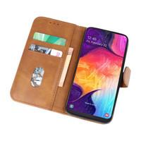 Bookstyle Wallet Cases Hoesje voor Galaxy A50 Bruin