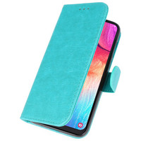 Bookstyle Wallet Cases Hoesje voor Galaxy A50 Groen
