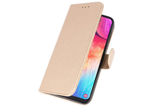 Bookstyle Wallet Cases Hoesje voor Galaxy A50 Goud