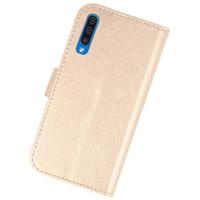Bookstyle Wallet Cases Hoesje voor Galaxy A50 Goud