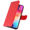 Bookstyle Wallet Cases Hoesje voor Galaxy A50 Rood