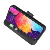 Bookstyle Wallet Cases Hoesje voor Galaxy A50 Zwart