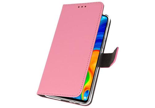 Wallet Cases Hoesje voor Huawei P30 Lite Roze