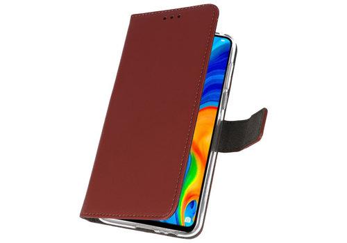 Wallet Cases Hoesje voor Huawei P30 Lite Bruin