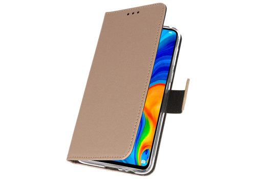 Wallet Cases Hoesje voor Huawei P30 Lite Goud
