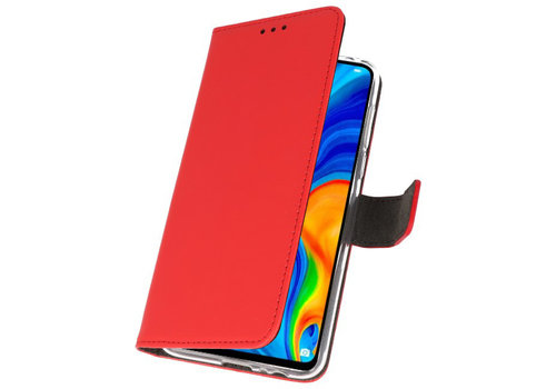 Wallet Cases Hoesje voor Huawei P30 Lite Rood