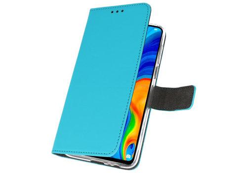 Wallet Cases Hoesje voor Huawei P30 Lite Blauw