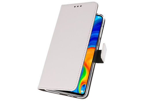 Wallet Cases Hoesje voor Huawei P30 Lite Wit