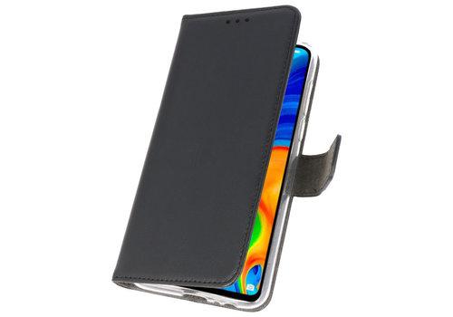 Wallet Cases Hoesje voor Huawei P30 Lite Zwart