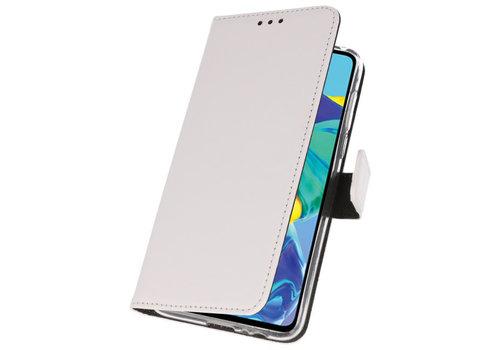 Wallet Cases Hoesje voor Huawei P30 Wit