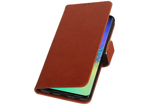 Pull Up Bookstyle voor Samsung Galaxy S10 Plus Bruin