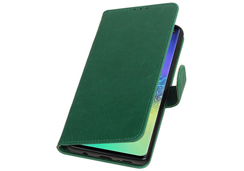 Pull Up Bookstyle voor Samsung Galaxy S10 Plus Groen