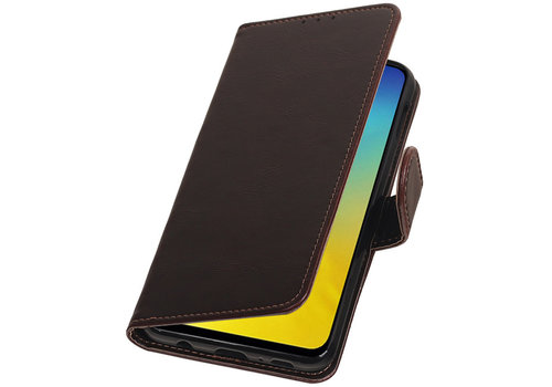 Pull Up Bookstyle voor Samsung Galaxy S10e Mocca