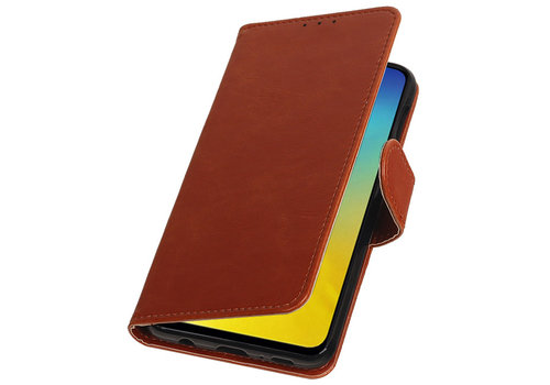 Pull Up Bookstyle voor Samsung Galaxy S10e Bruin