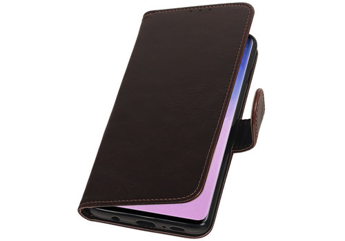 Pull Up Bookstyle voor Samsung Galaxy S10 Mocca