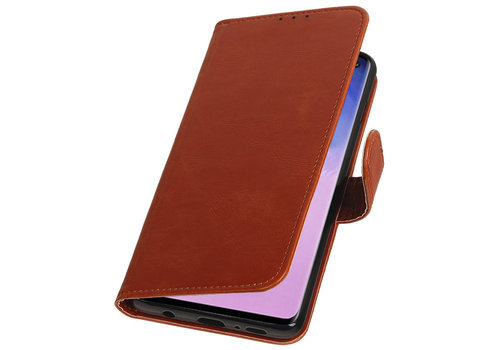 Pull Up Bookstyle voor Samsung Galaxy S10 Bruin