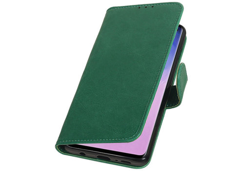 Pull Up Bookstyle voor Samsung Galaxy S10 Groen