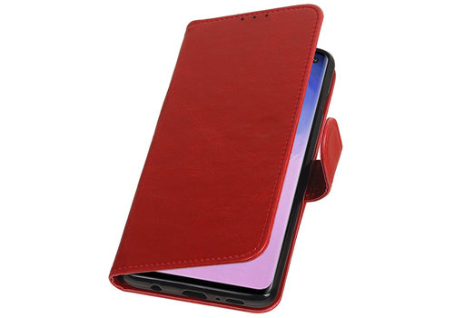Pull Up Bookstyle voor Samsung Galaxy S10 Rood