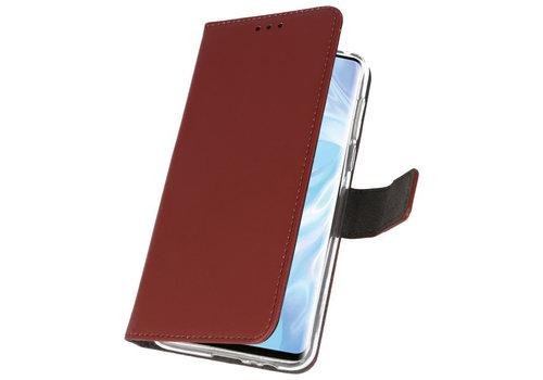 Wallet Cases Hoesje voor Huawei P30 Pro Bruin