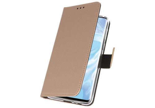 Wallet Cases Hoesje voor Huawei P30 Pro Goud