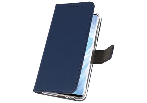 Wallet Cases Hoesje voor Huawei P30 Pro Navy
