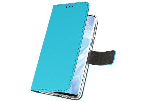 Wallet Cases Hoesje voor Huawei P30 Pro Blauw