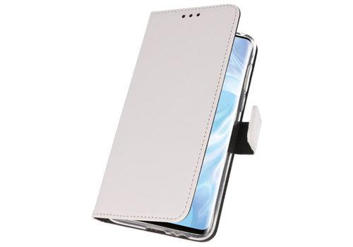 Wallet Cases Hoesje voor Huawei P30 Pro Wit