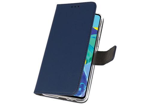 Wallet Cases Hoesje voor Huawei P30 Navy
