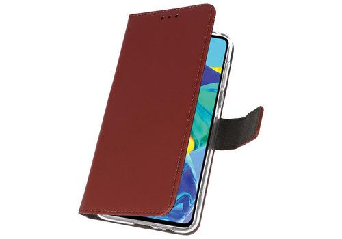 Wallet Cases Hoesje voor Huawei P30 Bruin