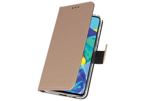 Wallet Cases Hoesje voor Huawei P30 Goud