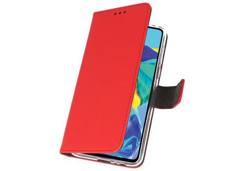 Wallet Cases Hoesje voor Huawei P30 Rood