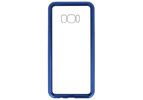 Magnetic Back Cover voor Galaxy S8 Plus Blauw - Transparant