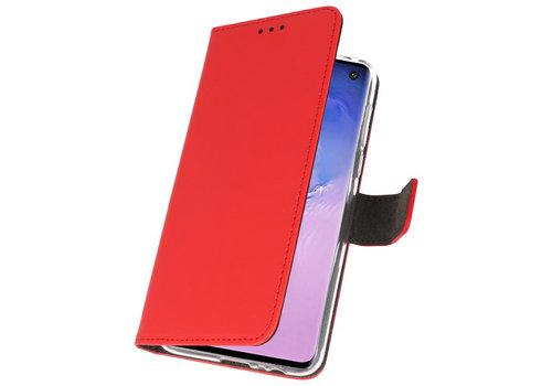 Wallet Cases Hoesje voor Samsung Galaxy S10 Rood