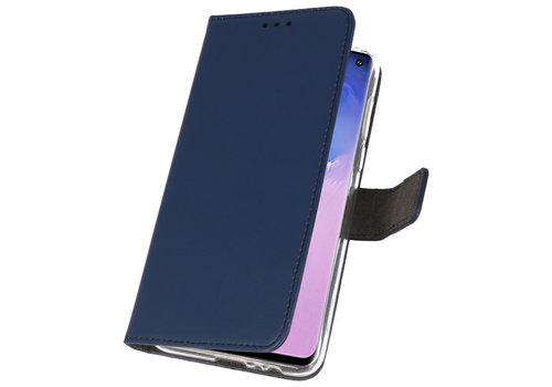 Wallet Cases Hoesje voor Samsung Galaxy S10 Navy