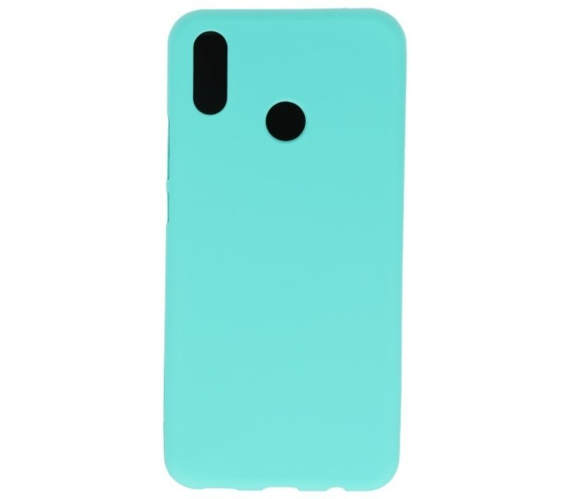 Color TPU Hoesje voor Huawei P30 Lite Turquoise