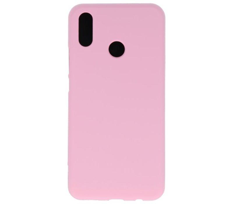 Color TPU Hoesje voor Huawei P30 Lite Roze